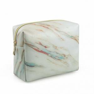 China Marble Pattern Makeup Organizer Pouch With Zipper , Mens Travel Toiletry Bag on sale