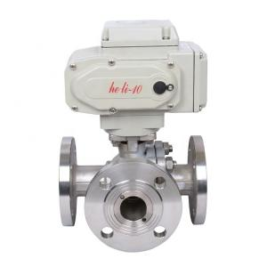 China High Pressure Electric Actuated Ball Valve 3 Way Flanged For Water / Oil on sale
