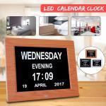 800x600 Digital Calendar Clock 5V 1A Greeting Card Folder