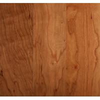 China cherry lacquered or oiled floor engineered or solid wide floor, cherry real wood veneer HDF on sale