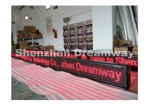 China Bright P 10 LED Moving Message Sign For Indoor / Semi-Outdoor Text Showing on sale