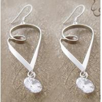 925 sterling silver jewelry gemstone dangle earring with competitive price for lady