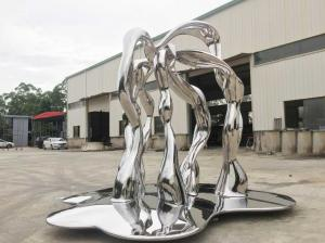 China Modern Outside Garden Ornaments Art Stainless Steel Sculpture For Street Decoration on sale