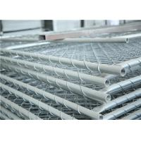 Hot Dipped Galvanized Temporary Chain Link Fence / Construction Site Fence 6