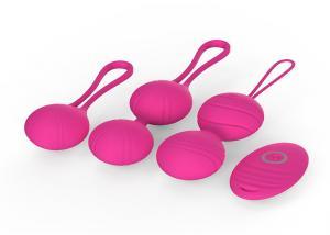 China 2 In 1 Beginners Silicone Kegel Balls Wireless Remote Control Massage Koro on sale