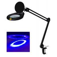 Ultraviolet Small Led Magnifying Desk Lamp Flexible 5 Inch 127mm Lens