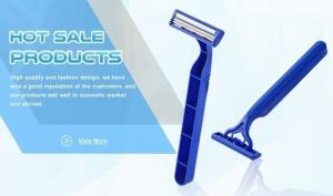 China Custom Logo Good Max Razor Twin Blade Razor With Swivel Head Fda Approved on sale