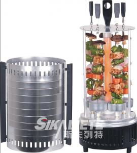 China CE certificated vertical electric grill black color  SC-KG10 with s/s skewers,aluminium shell on sale