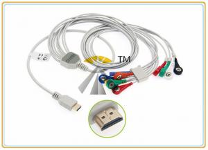 China Snap 10 Lead Patient ECG Electrode Cable AHA Standard Biox Holter  Compatible on sale