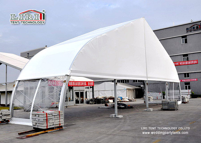 Transparent Curved TFS Tents with Metal Frame and Waterproof Clear ...