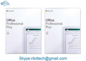 China Microsoft Office Professional Plus 2019 , Windows 10 Home And Business 2019 DVD Media Product Key on sale