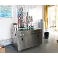 PLC System Vacuum Crimping Oxygen Filling Machine , Spray Tin Can Filling Machine