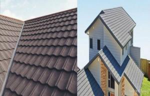 China アルミニウム-亜鉛コーティングの石の破片の耐久上塗を施してある鋼鉄屋根瓦 on sale