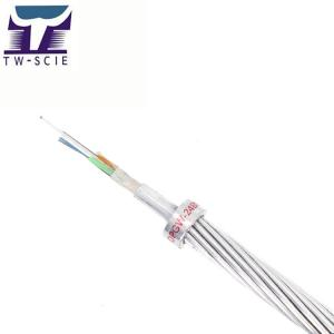 China 2 Layer Stranded Central Al Covered Stainless Steel Tube OPGW Fiber Optic Cable on sale