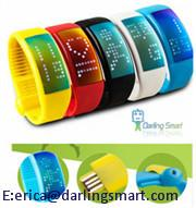 China Sensor Step Walking distance Calorie Counter Wristband on sale