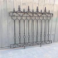 Decorative Wrought Iron Fence Erosion Resistance Ornamental Fence Panels