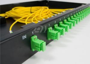 China SC/APC 1*16 PLC Optical Fiber Splitter Rack Mount Box Low Excess Loss on sale