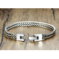 High Polish Stainless Steel Keel Chain Link Mens Silver Clasp Bracelet