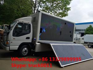 HOT SALE forland 4*2 RHD LED advertising truck with 3 sides P8 LED