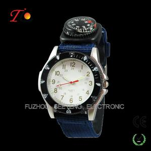 China Charming nylon military watch with compass on sale