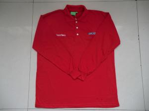 China Long Sleeve Polo Shirt in 100% cotton on sale