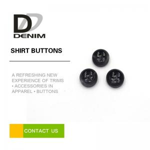 China 4 Holes Black Round Buttons Bulk For White T - Shirt / Printed Dress on sale