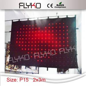 China Black fireproof Velvet cloth stage backdrop led video vision curtain on sale
