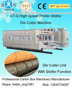 China Corrugated Box Flexo Printer Carton Making Machine 1600 X 3000mm Max Feeding Size on sale