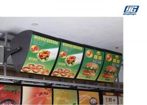 China Acrylic Illuminated Led Menu Board Black Frame Single Side Display For Restaurant on sale