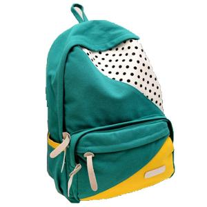 China ECO Friendly Green Pretty High School Backpacks Canvas Back Pack Personalized on sale