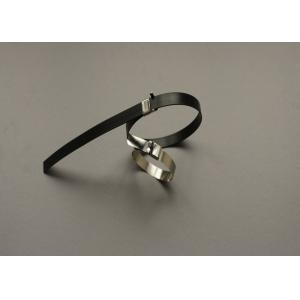 China L Type Stainless Steel Wire Ties 8 Inch Tie Wraps With Ear Buckles Locking on sale