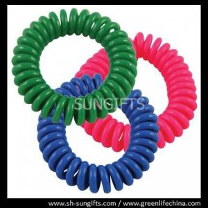 China Pinkish red/blue/green wrist coil, plastic spiral coil, spring string coils on sale