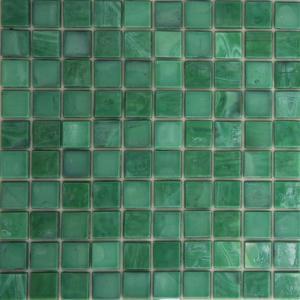 Pure Green Ceramic Mosaic Wall Tile Ice Jade Look Gl