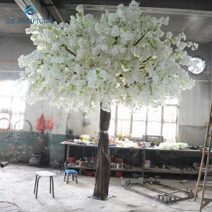 China Fiberglass Trunk Artificial Cherry Blossom Tree / Fake Cherry Blossom Bonsai Tree on sale