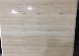 China Super Light Natural Stone Tiles , Italian Ivory White Travertine Marble Wall Tile on sale