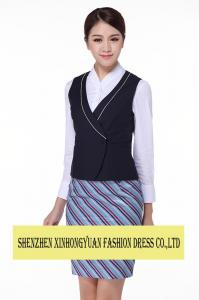 China Waiting Staff Hotel Reception Uniforms Embroidered Workwear For Women supplier