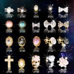 Горячий НОВЫЙ оптовый номер МЛ2719-2738 поставщика стикера стразов ногтя ювелирных изделий искусства ногтя ювелирных изделий 3Д сплава