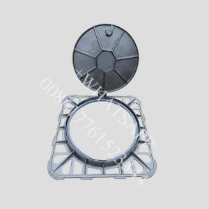 China d400 850x850  waterproof lockable bolted  ductile iron manhole cover on sale