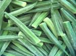 High Grade IQF Frozen Food , Whole / Cut Shape Individually Quick Frozen Okra