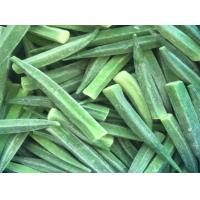 China High Grade IQF Frozen Food , Whole / Cut Shape Individually Quick Frozen Okra on sale