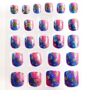 China 3D Artificial Fingers Fake Nails French Natural With Glitter Full Cover on sale