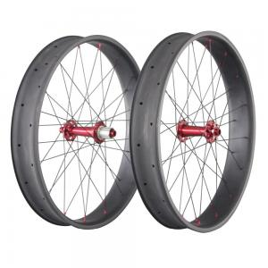 China 26 Inch Carbon Fat Wheels 650C 90mm 20mm Double Wall Bike Novatece Hub 32H on sale