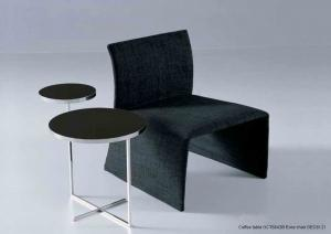 Quality Glass Metal Sofa Side Tables, Tempered Black Glass End Table , Round glass end for sale