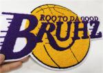 Basketball Team Chenille Letterman Patches For Varsity Jackets Die Cut Edge