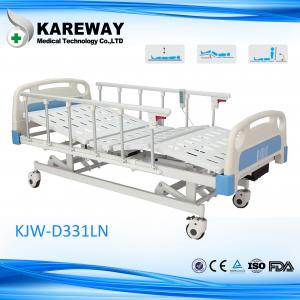 China Plastic Cranks Motorised Hospital Bed 1.2mm Thickness 3 Functions Hospital Furniture on sale