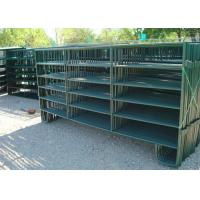 Powder Coated Horse Yard Panels Pre Hot Dipped Galvanized Steel Pipe Material