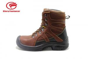 Quality High Cut Tumbled Leather Lightweight Steel Toe Boots , Steel Toe Waterproof for sale