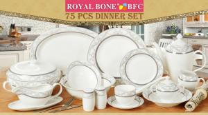 China 75pcs fine bone china dinnerware on sale