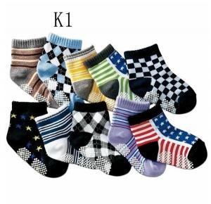 China Colorful design knitted terry cotton boys socks in high quality on sale