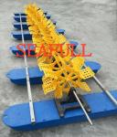 8HP~16HP /6KW~12KW DIESEL Paddle wheel aerator 16 impeller 7Float